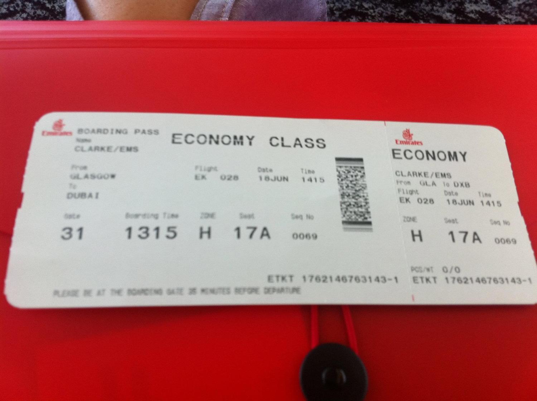 Emirates :  Journey to Dubai
